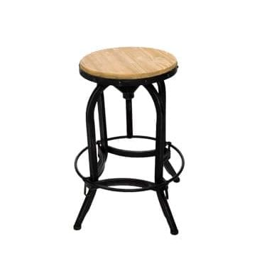 Wooden Industrial Bar Stool available for Sydney hire.