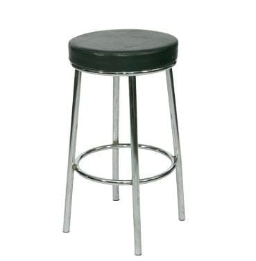 Black leatherette Bar Stool available for Sydney hire.