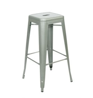 Silver Tolix Bar Stool Available for Sydney hire.