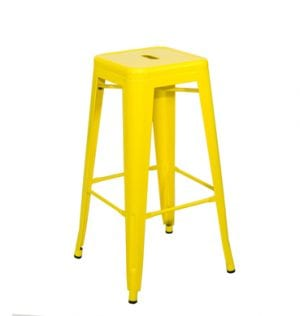 Yellow Tolix Bar Stool available for Sydney hire.