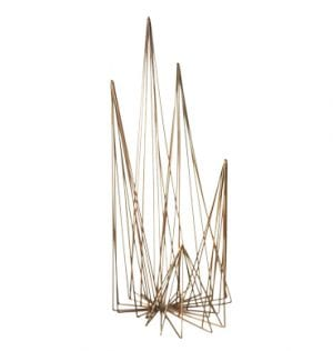 Brass Wire Pyramid available for Sydney hire.