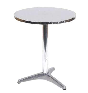 Chrome café table