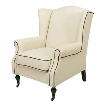 Linen Wingback Chair available for Sydney hire.