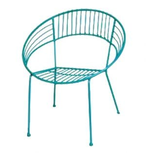 Aqua Patio Setting Chair available for Sydney hire.