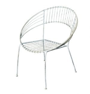 White Patio Setting Chair available for Sydney hire.