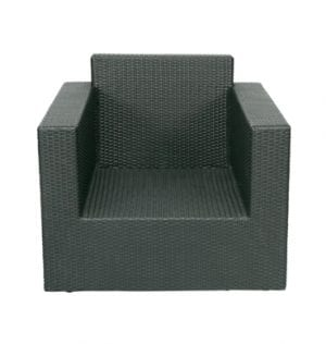 Charcoal Rattan Chair available for Sydney hire