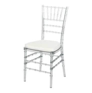 Ghost Tiffany Chair available for hire in Sydney.