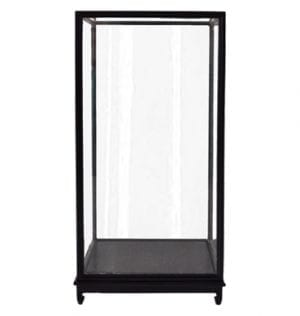 Noir Glass Vitrine available for Sydney hire.