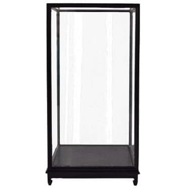 Noir Glass Vitrine available for Sydney hire.
