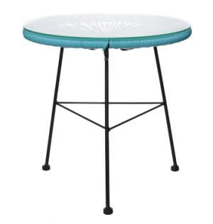 Aqua Scoop Coffee Table available for Sydney hire