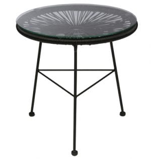 Black Scoop Coffee Table available for Sydney hire.