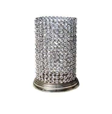 Medium Crystal Cylinder available for Sydney hire.
