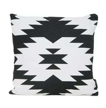 Black and White Aztec Cushion
