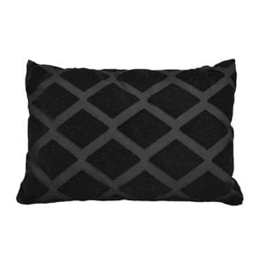 Black Velvet Cushion with Diamond Pattern available for Sydney hire