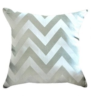 Taupe Chevron Cushion available for Sydney hire