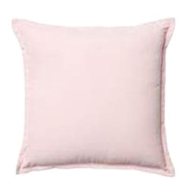 Soft Pink Cotton Cushion available for Sydney hire