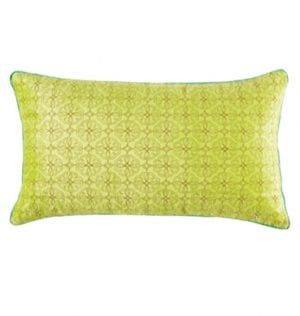 Ella Chartreuse Cushion available for Sydney hire