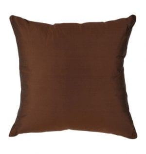 Chocolate Silk Cushion available for Sydney hire