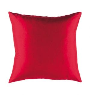 Red Silk Cushion available for Sydney hire