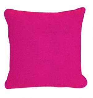 Hot Pink Cotton Textured Cushion available for Sydney hire.