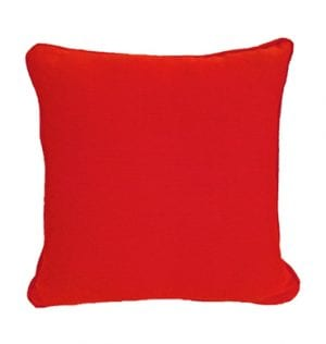 Red Textured Cotton Cushion available for Sydney hire