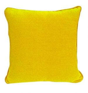 Yellow Cotton Textured Cushion available for Sydney hire