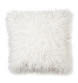 White Fluffy Cushion available for Sydney hire