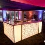 Glow Bars with Decal - hire now!