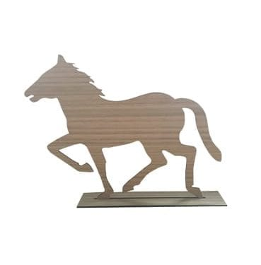 Wooden Horse with Rectangular Base available for Sydney hire.