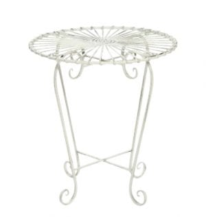 White Patio Setting Side Table available for Sydney hire
