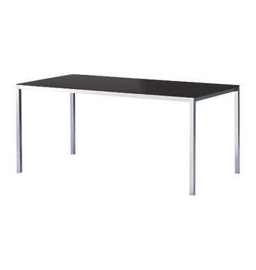 Chrome leg Black Top Table