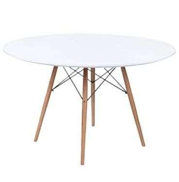 White Eames Table