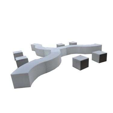 Y Glow daybed with Snake Glow daybeds to create custom shapes