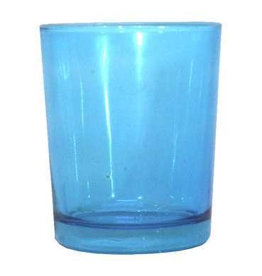 Aqua Glass Votive available for Sydney hire.