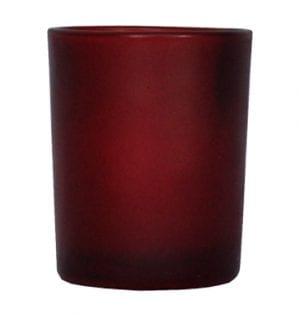 Frosted Red Votive available for Sydney hire.