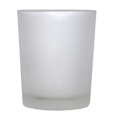 Frosted white votive available for Sydney hire.