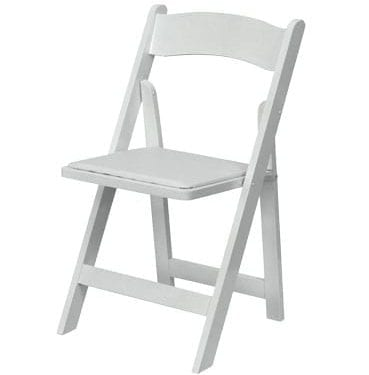 White Resin Folding Chair available for Sydney hire.