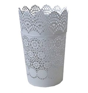 White Stencilled Bucket available for Sydney hire.