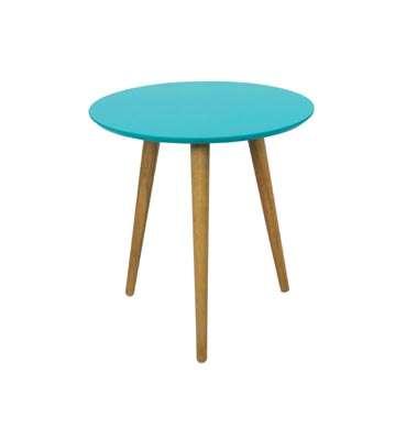 blue tripod coffee table