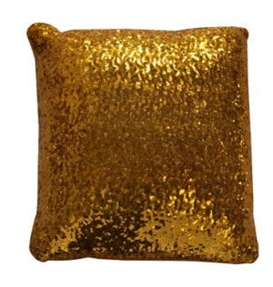 Gold Sequin Cushion available for Sydney hire