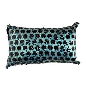 Aqua Taffeta Sequin Cushion available for Sydney hire