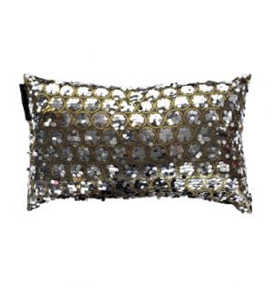 Grey Rectangle Taffeta Sequin Cushion available for Sydney hire
