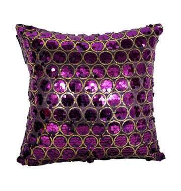 Purple Taffeta Square Cushion available for Sydney hire