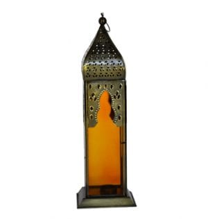 Tall Brass Moroccan Lantern