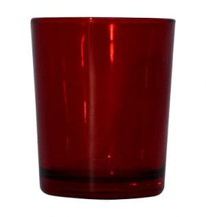 Red Glass Votive available for Sydney hire.