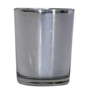 Silver Shiny Votive available for hire in Sydney, Australia.