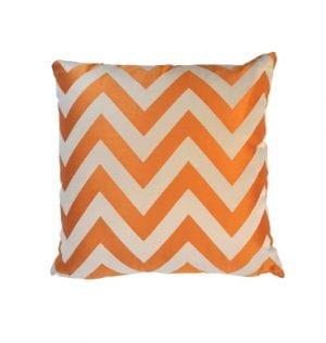 Orange Chevron Cushion available for Sydney hire