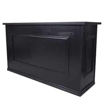 Black Timber Contemporary Bar available for Sydney hire