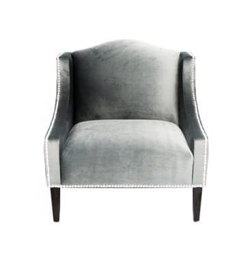 Velvet Luxe Charcoal Chair available for hire in Sydney