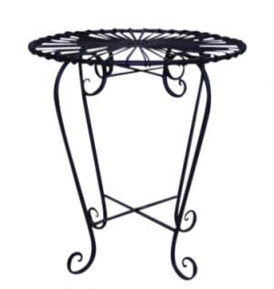 Black Patio Setting Side Table Available for Sydney hire.
